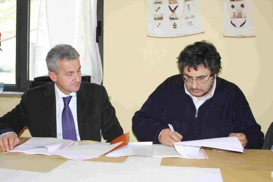 Sottoscrizione convenzione con Trenta DE Sergio Venezia e Romano Stefani