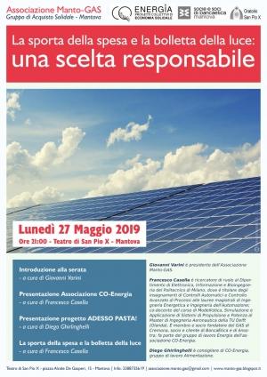 La sporta della spesa e la bolletta della luce, il 27 maggio a Mantova