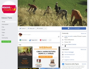 On line la pagina Facebook di Adesso Pasta!