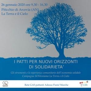 I patti strumento di solidarietà, incontro a Piticchio di Arcevia