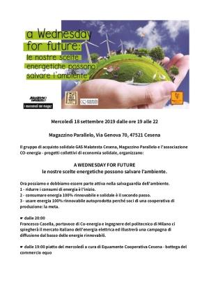Scelte energetiche per salvare l'ambiente, incontro a Cesena