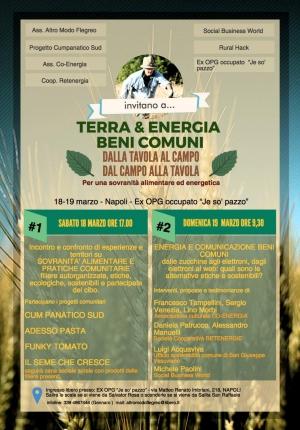 Dal nord al sud per parlare di Terra & Energia, il 18 e 19 marzo a Napoli