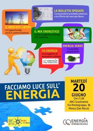 Facciamo luce sull'energia, il 20 giugno a Monza