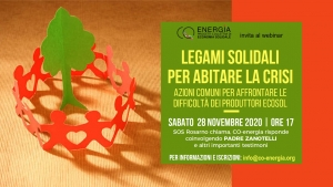 Legami solidali per abitare la crisi, on line il video del webinar
