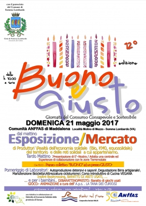 Buono e giusto 2017 a Somma Lombardo il 21 maggio
