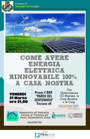 Il 31 marzo parliamo di energia a Trezzano sul Naviglio (MI)