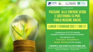 Passare alle energie verdi e sostenibili, webinar online