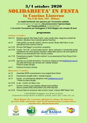 Solidarietà in festa, il 3 e 4 ottobre a Milano