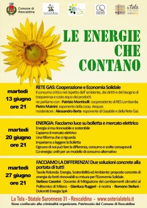 Le Energie che Contano. Tre serate a Rescaldina